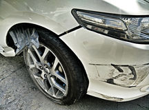 My car is damaged by side collision Royalty Free Stock Photos