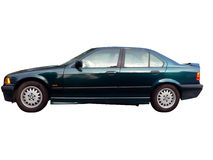 My car isolated by clipping path. Photo of my 1997 bmw 318 i isolated by clipping path stock photo