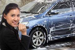 My Car washing Royalty Free Stock Images