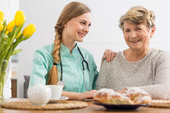 My carer is like a family to me Stock Images