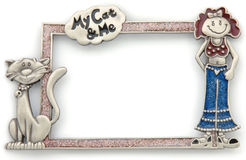 My Cat & Me photo frame Royalty Free Stock Image