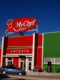 My Chef commercial building in italian colors Stock Photography