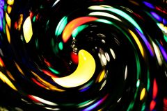 A whirling typhoon of Christmas lights poem royalty free stock photos