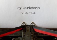 My Christmas Wish List, old style Stock Photography