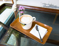 My coffee on free time relax. My coffee on free on time Royalty Free Stock Photography