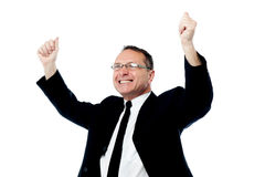 My company succeed this year. Stock Image