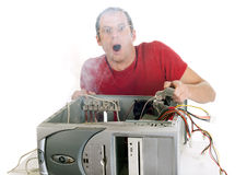 My computer is burning! Royalty Free Stock Photo