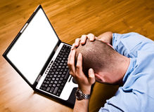 My computer make me crazy! royalty free stock photo