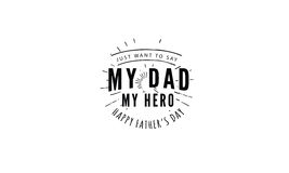 My dad my hero Stock Images