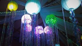 These are jelly fish at Prom. My daughters proms theme was under the sea. these are jelly fish Royalty Free Stock Photo