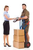 My delivery has just arrived royalty free stock photography