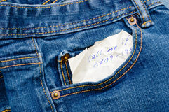 In my denim pocket Stock Photography