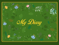 My diary inscription with floral background Royalty Free Stock Photo