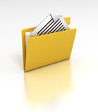 My Documents. 3D rendered desktop icon of a folder with a document sticking out Stock Images