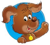 My dog 002. Isolated clip-art / children's book illustration for your design Royalty Free Stock Photography