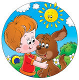 My dog 003. Illustration for children Royalty Free Stock Photos