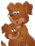 My dog 007. Illustration for children Stock Photography