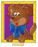 My dog 008. Illustration for children Stock Photos