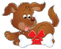 My dog 009. Illustration for children Stock Photo