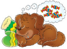 My dog 011. Illustration for children Stock Photography
