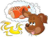 My dog 013. Illustration for children Stock Images