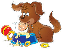My dog 015. Illustration for children Royalty Free Stock Image