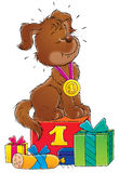My dog 022. Illustration for children Stock Photography