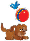 My dog 022. Illustration for children Stock Photos