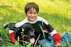 My dog and I royalty free stock image