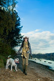 My dog and I together Royalty Free Stock Images
