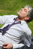 My dreams are achievable. A young businessman lying on a meadow and contemplating Royalty Free Stock Photography