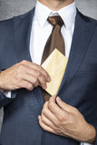 This is my envelope. Business man Royalty Free Stock Photos