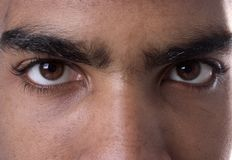 Through my eyes... Close up of mans eyes Royalty Free Stock Photo