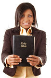 My Faith. This is an image of a woman holding a bible Stock Photo