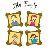 My family on frames Stock Photo