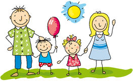 My family is happy stock illustration