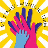 My family-Winning team Royalty Free Stock Photo