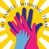 My family-Winning team Royalty Free Stock Photo