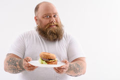 This is my favorite burger Stock Image