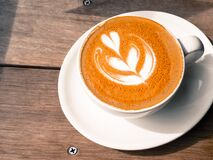 Free My Favorite Coffee - Cappuccino Royalty Free Stock Photo - 176135415