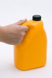My Favorite Juice. Hand holding a container of orange juice Stock Image