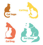 My favorite pet, vector collection of animals symbols. Royalty Free Stock Photography