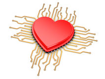My favorite processor. Cpu as heart. Royalty Free Stock Image