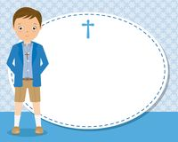 My first communion boy. Space for text Stock Image
