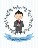 My first communion boy royalty free illustration