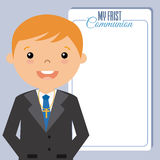 My first communion boy. Space for text Royalty Free Stock Image