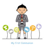 My first communion boy Royalty Free Stock Images
