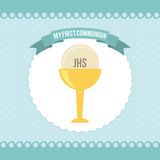 My first communion. Design,  illustration eps10 graphic Royalty Free Stock Image
