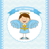 My first communion. Design,  illustration eps10 graphic Stock Photography