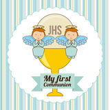 My first communion. Design,  illustration eps10 graphic Royalty Free Stock Photography